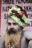 Indisk sadhu. Arkivfoton