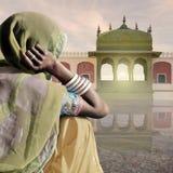 indisk saree Royaltyfria Foton