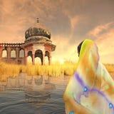 indisk saree Arkivfoto