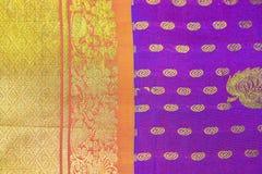 indisk sareesilk arkivbild