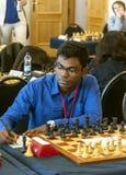 Indisk schackspelare Fotografering för Bildbyråer