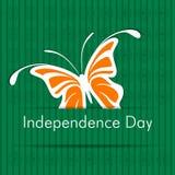 Indisk självständighetsdagenetikett Arkivfoton