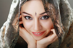 Indisk skönhetframsida Arkivfoton