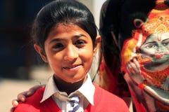 Indisk skolaflicka Arkivfoton