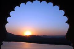 indisk solnedgång arkivbild