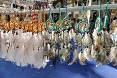 Indisk souvenir för indian dreamcatchersna royaltyfri fotografi