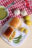 Indisk special traditionell stekt matvada pav Royaltyfri Foto