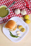 Indisk special traditionell stekt matvada pav Fotografering för Bildbyråer