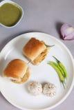 Indisk special traditionell stekt matvada pav Arkivbild