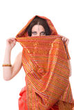 indisk ståendekvinna Fotografering för Bildbyråer