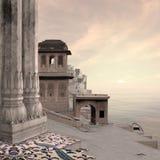 Indisk stad Arkivfoto