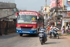Indisk stad av Mangalore arkivbild