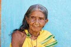 indisk stam- kvinna Fotografering för Bildbyråer