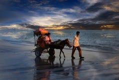 Indisk strand Arkivbilder