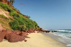 Indisk strand Arkivfoto