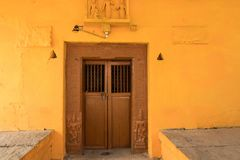 Indisk tempel för bysida för att tillbe royaltyfria bilder
