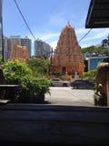 Indisk tempel med blått Arkivfoton