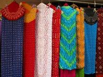 Indisk textil Arkivfoto