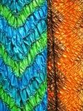 Indisk textil, närbild Arkivfoton