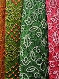 Indisk textil, närbild Royaltyfria Foton