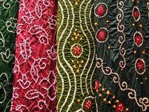 Indisk textil, närbild Royaltyfri Fotografi