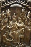 Indisk träkonst Fotografering för Bildbyråer