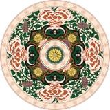 Indisk traditionell modell i färg Arkivfoton