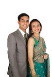 indisk traditionell wear för par Arkivfoto