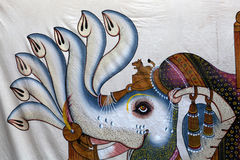 Indisk väggkonst arkivfoton