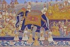 indisk väggmålning royaltyfria foton