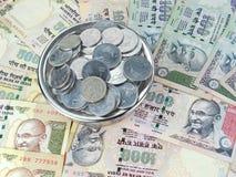 Indisk valuta royaltyfri fotografi