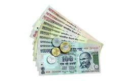 Indisk valuta royaltyfria foton