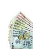 Indisk valuta Arkivfoton