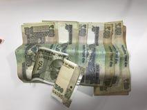 Indisk valuta arkivbild