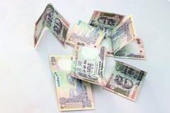 Indisk valuta av 100 rupieanmärkningar Arkivfoto