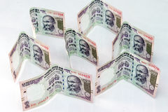 Indisk valuta av 100 rupieanmärkningar Royaltyfri Bild