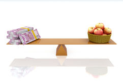 Indisk valuta med Apple Stock Illustrationer