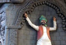 Indisk Wall för Punjabibhangradansare konst arkivfoto