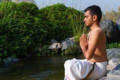 Indisk yogi arkivfoto
