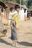 indiska barn Fotografering för Bildbyråer