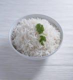 Indiska basmati ris, pakistanska basmati ris, asiatiska basmati ris, lagade mat basmati ris, lagade mat vita ris, lagade mat vanl Arkivbilder
