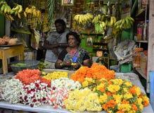 Indiska blommor shoppar Arkivfoto