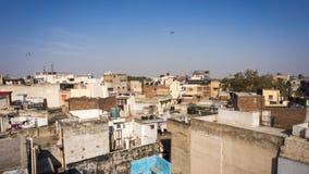 Indiska bostads- byggnader royaltyfri bild