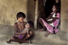 Indiska bybarn Arkivfoton