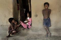 Indiska bybarn Arkivbild