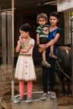 Indiska dåliga barn Arkivfoto