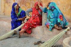 Indiska damer Rajasthan Indien Fotografering för Bildbyråer