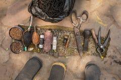 Indiska gataskomakarehjälpmedel fotografering för bildbyråer
