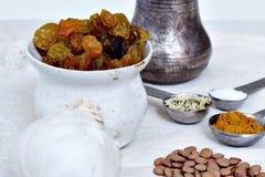 Indiska kokkonstingredienser Arkivbilder