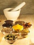 Indiska kryddor Arkivbild